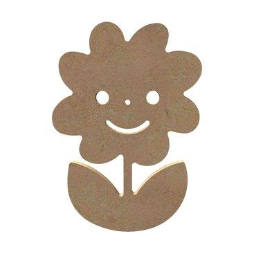 Houten knutselfiguur lachende margriet / Foam Clay