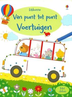 Activiteitenboek Van punt tot punt Voertuigen / Usborne
