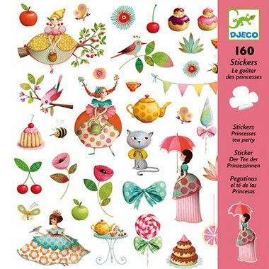 160 stickers prinsessen theekransje / Djeco
