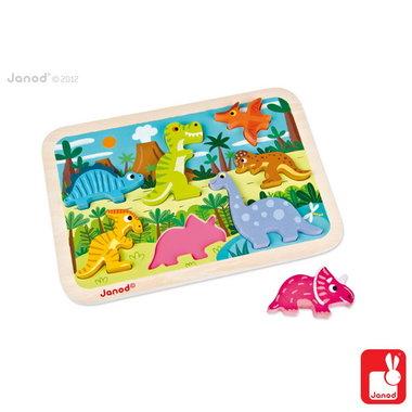 Chunky puzzel - dinosaurus / Janod