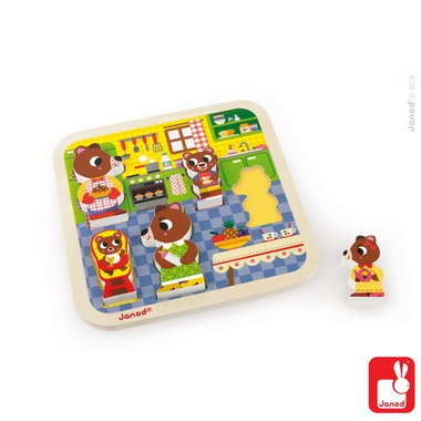 Chunky puzzel - in de keuken / Janod