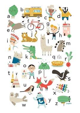 Poster Poster ABC artisjok- zeppelin 50 x 70 cm NL  / Petit Monkey