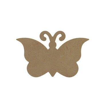 Houten knutselfiguur Vlinder / Foam Clay (Gomille)
