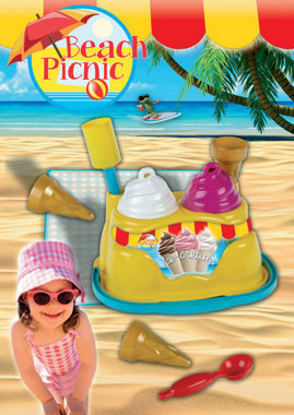 Beach Picnic ijsmachine met zandvormen / Klein