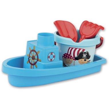 Boot met emmerset piraat (blauw) / Androni