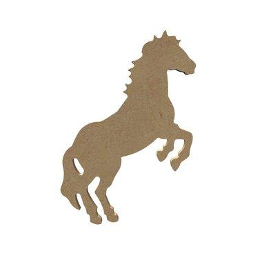 Houten knutselfiguur Steigerend paard / Foam Clay (Gomille)