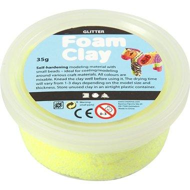 Foam Clay Glitter geel / Foam Clay