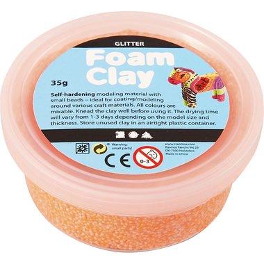 Foam Clay Glitter oranje / Foam Clay