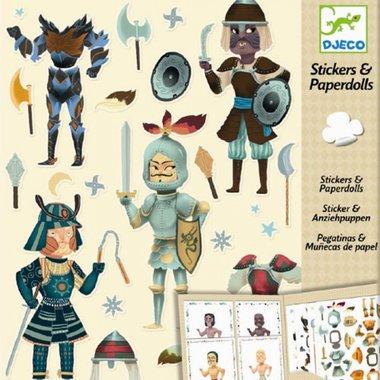 Aankleedpoppen met stickers Ridders / Djeco