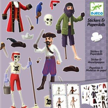 Aankleedpoppen met stickers Piraten / Djeco