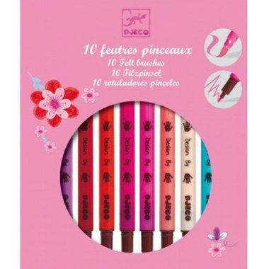 10 Dubbele viltstiften Roze / Djeco