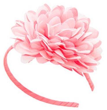 Haarband bloem koraalroze / Global Affairs