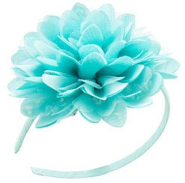 Haarband bloem mintgroen-turquoise / Global Affairs