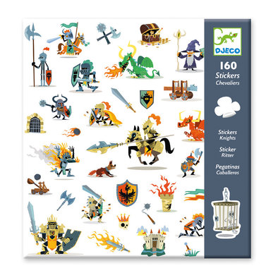 160 stickers Ridders / Djeco