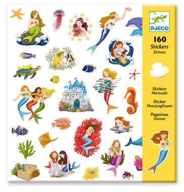 160 stickers Zeemeerminnen / Djeco