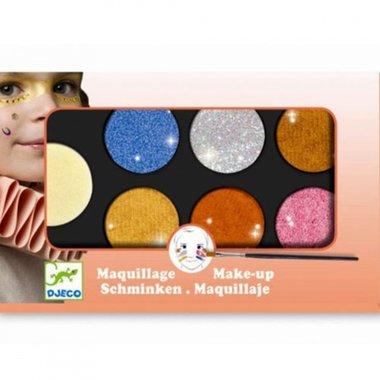 Schmink 6 kleuren Metaal effect / Djeco