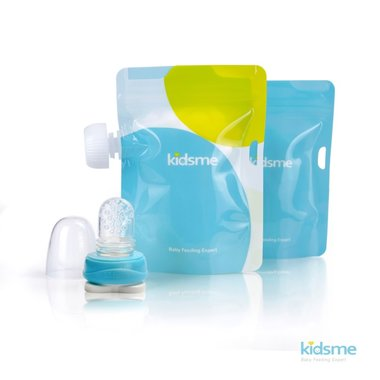 Reusable Food Pouch with Adaptor set - Sky / Kidsme