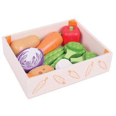 Houten krat met groenten / BigJigs