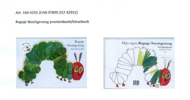 Rupsje Nooitgenoeg prentenboek en kleurboek 3+ / Eric Carle