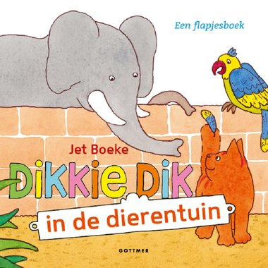 Dikkie Dik in de dierentuin (flapjesboek). 1+