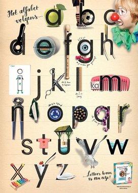 Poster Alfabet / Letters leren is een eitje