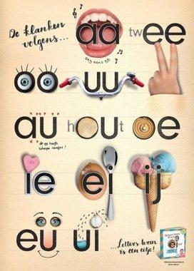 Poster Tweetekenklank / Letters leren is een eitje