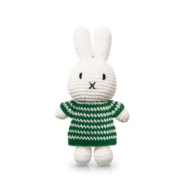 Nijntje handmade en haar groene streepjesjurk / Just Dutch