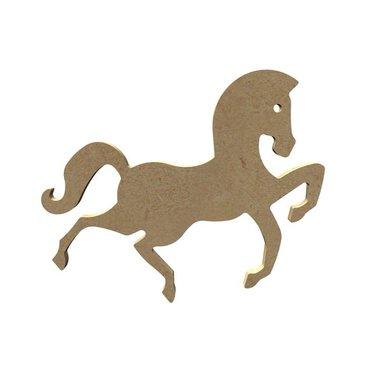 Houten knutselfiguur Sierlijk paard / Foam Clay (Gomille)