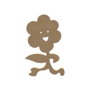 Houten knutselfiguur Vrolijke bloem / Foam Clay