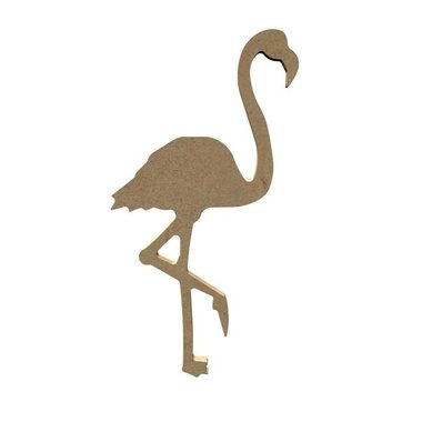 Houten knutselfiguur Flamingo / Foam Clay (Gomille)