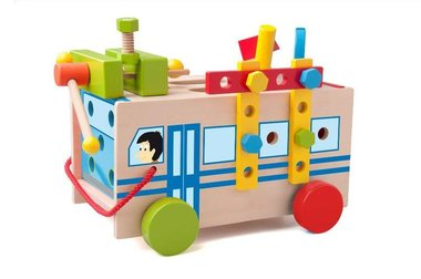 Houten monteerbus 29 dlg. (91179) / Woody