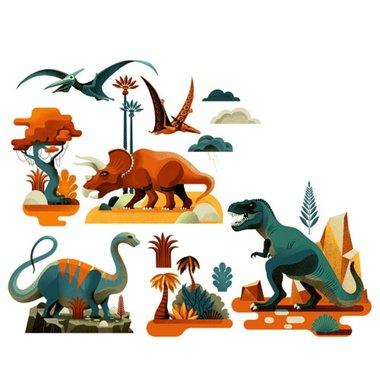 Raamstickers Dinosaurussen / Djeco