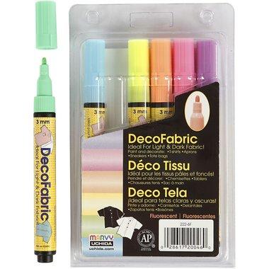 Textielstiften neon / Deco