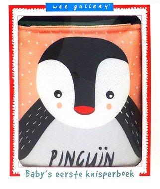 Stoffen knisperboek pinguïn. 0+ / Wee Gallery