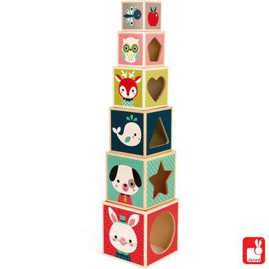 Baby Forest - stapeltorenblokken vos / Janod