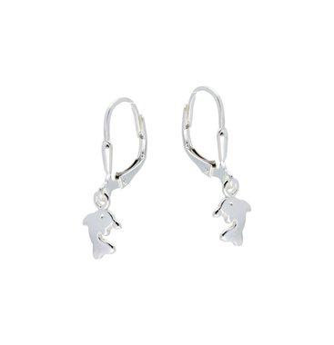 Zilveren kinderoorhangers - dolfijn / Lilly