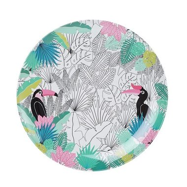Tropical Paradise Found melamine bord / Ginger