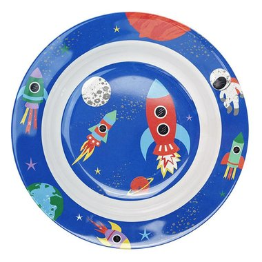Happy in Space melamine diep bord / Ginger