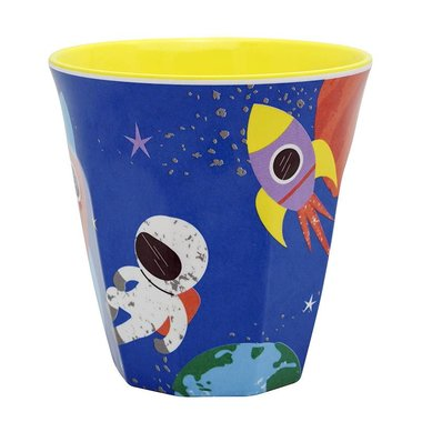 Happy in Space melamine beker (medium) / Ginger