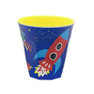 Happy in Space melamine beker (small) / Ginger