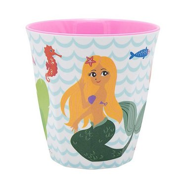 Delightful Mermaid melamine beker (medium) / Ginger