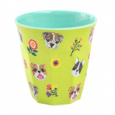 Dogs melamine beker (medium) / Ginger