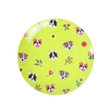 Dogs melamine bord (small) / Ginger