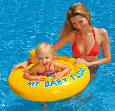 Babyfloat geel 6 - 12 mnd / Intex