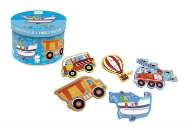Starterspuzzel voertuigen (5 puzzels) / Scratch