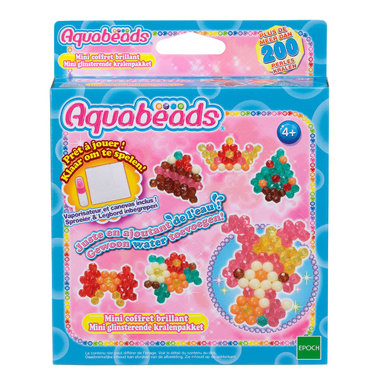 Mini glinsterend parelpakket (complete set) / Aquabeads