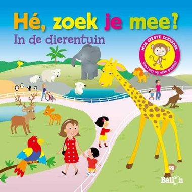 Kartonboek He zoek je mee in de dierentuin. 2+ / Ballon Media