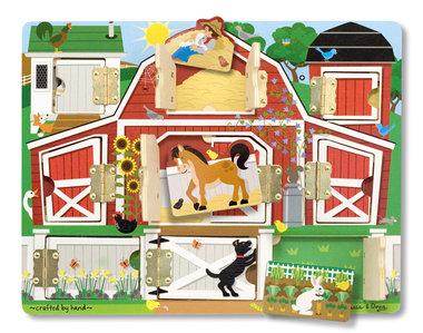Houten magneetpuzzel zoek en vind boerderij / Melissa & Doug