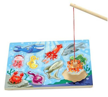 Houten magnetisch puzzelspel vissen / Melissa & Doug