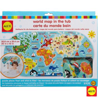 Badstickers wereldkaart FOAM / Alex
